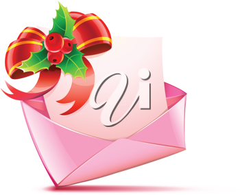 Royalty Free Clipart Image of a Christmas Card