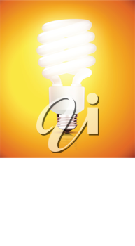 Royalty Free Clipart Image of a Fluorescent Light Bulb