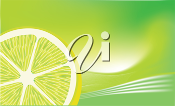 Royalty Free Clipart Image of a Lemon Background