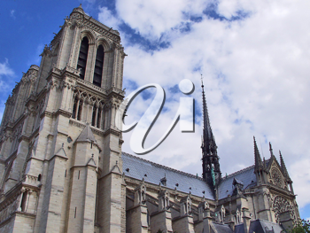 Royalty Free Photo of the Notre Dame Cathedral, France