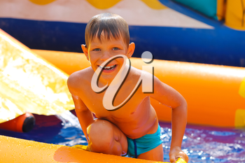 Royalty Free Photo of a Boy in the Water