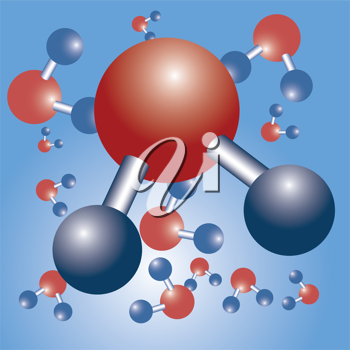 Royalty Free Clipart Image of a Chemical Science Structure