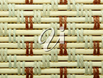 Royalty Free Photo of a Woven Bamboo Background