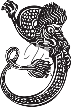 Royalty Free Clipart Image of a Chinese Dragon