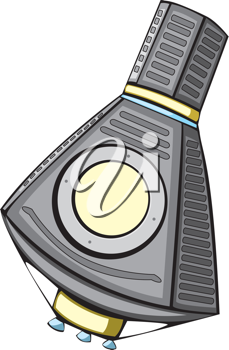 Royalty Free Clipart Image of a Mercury Space Capsule