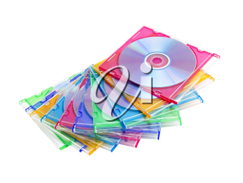 Royalty Free Photo of a Stack of DVDs