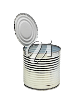 Royalty Free Photo of an Empty Tin Can