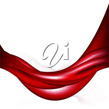 Abstract Background With Red Waved Lines