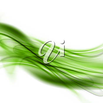 Abstract Modern Green And White Waved Background