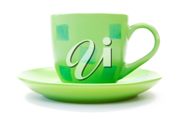 Royalty Free Photo of a Green Coffee Cup