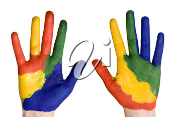 Royalty Free Photo of Painted Hands