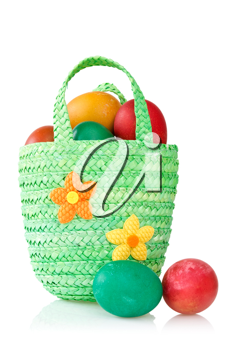 Royalty Free Photo of a Basket of Eggs