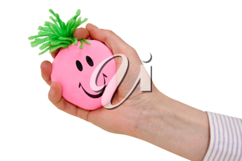 Royalty Free Photo of a Hand Squeezing a Stress Ball