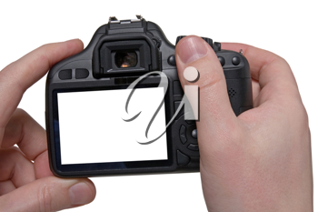 Royalty Free Photo of a Person Holding a Camera