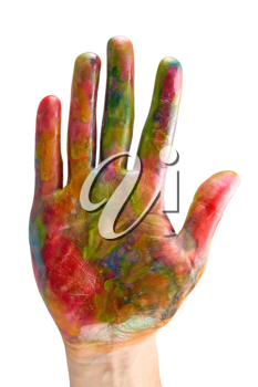 Royalty Free Photo of a Painted Hand