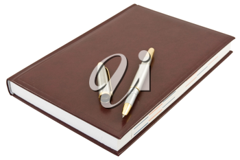 Royalty Free Photo of a Pen on a Notebook