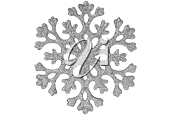 Royalty Free Photo of a Silver Snowflake