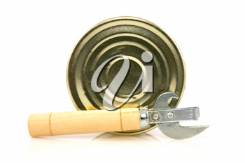 Royalty Free Photo of a Tin Can and Opener