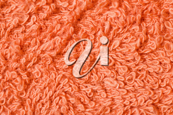 Royalty Free Photo of an Orange Fleecy Towel