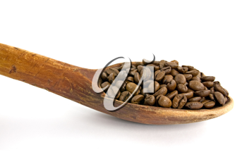 Royalty Free Photo of a Spoonful of Coffee Beans
