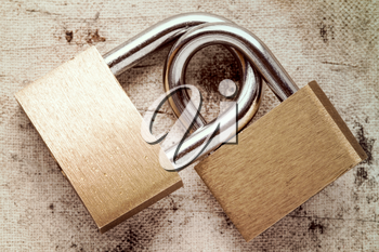 Two linked padlocks symbolizing good relationships or marriage