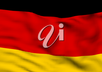 Image of a waving flag of Germany