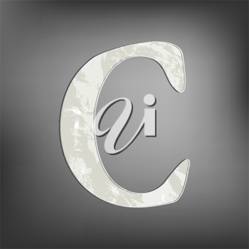 Royalty Free Clipart Image of the Letter C