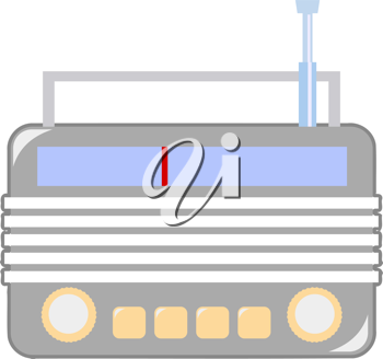 Royalty Free Clipart Image of a Vintage Radio
