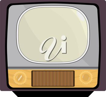 Royalty Free Clipart Image of an Old Television