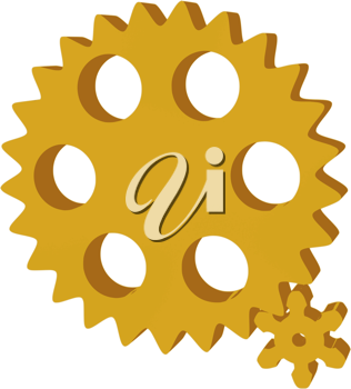 Royalty Free Clipart Image of Pinions