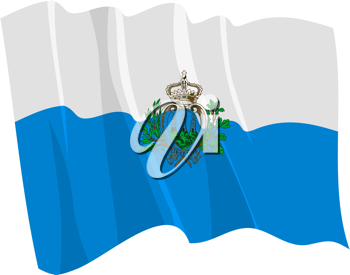 Royalty Free Clipart Image of the San Marino Flag