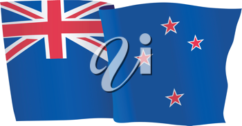 vector illustration of national flag of New Zealand