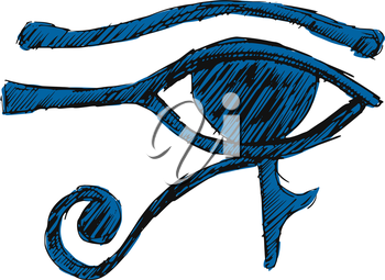 Royalty Free Clipart Image of the Eye of Ra
