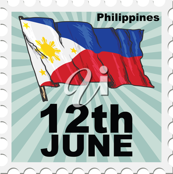 post stamp of national day of Philippines