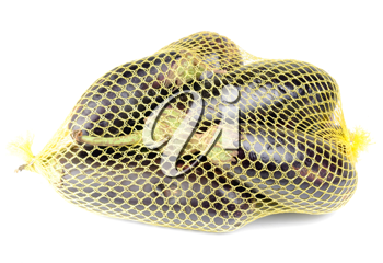 Royalty Free Photo of Eggplants in a Bag