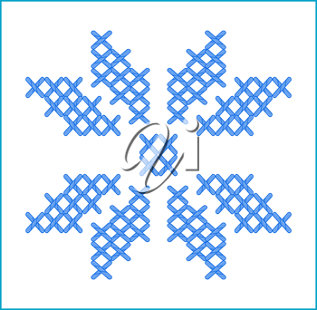 Royalty Free Clipart Image of a Norwegian Embroidery