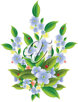 Royalty Free Clipart Image of Spring Flowers