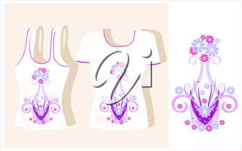 Royalty Free Clipart Image of Two Shirts