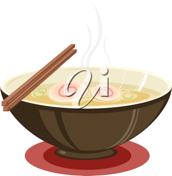 Royalty Free Clipart Image of a Bowl of Soup