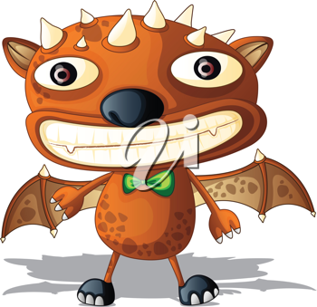 Royalty Free Clipart Image of a Space Bat