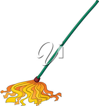 illustration of yellow wiper on a white background