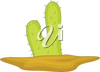 Illustration of a spiny cactus