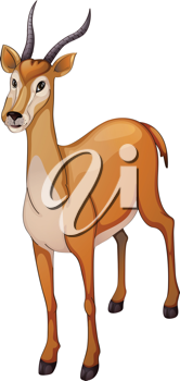 illustration of a antelope a white background