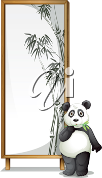 illustration of a panda with the board