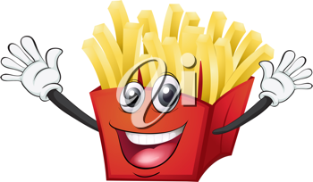 illustration of a french fries on a white background