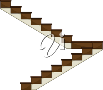 Illustration of a staircase on a white background