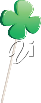 Illustration of a green clover plant on a white background