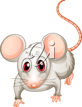 Illustration of a four-legged creature on a white background