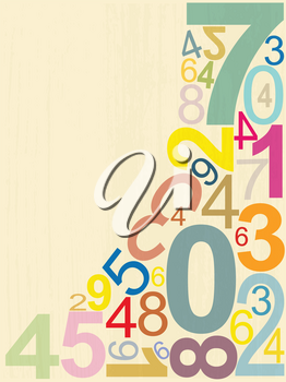 Royalty Free Clipart Image of a Background of Numbers