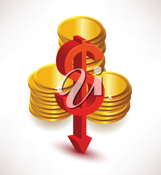 Royalty Free Clipart Image of Money